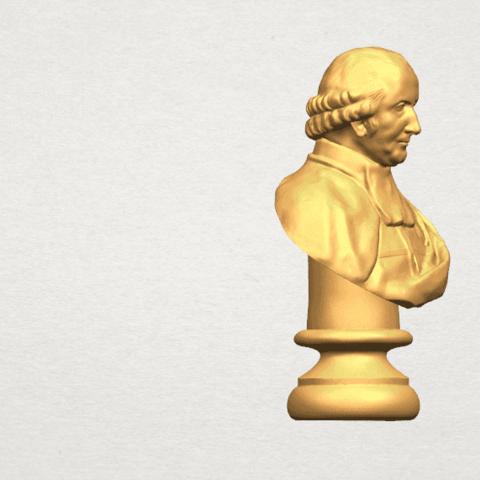 TDA0620 Sculpture of a head of man 02 A06.png Télécharger fichier STL gratuit Sculpture d'une tête d'homme 02 • Design à imprimer en 3D, GeorgesNikkei