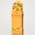 A04.png Download free STL file Dragon Stamp 02 • 3D printing model, GeorgesNikkei
