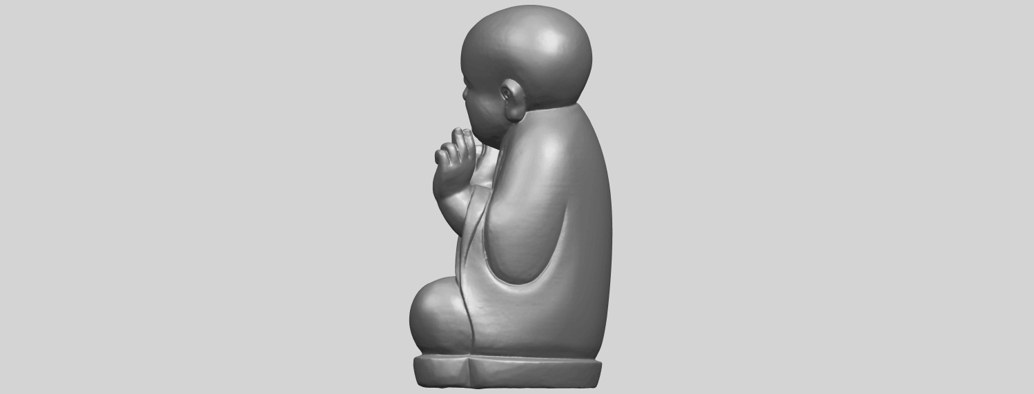 TDA0732_Little_Monk_05A04.png Download free STL file Little Monk 05 • 3D printing template, GeorgesNikkei