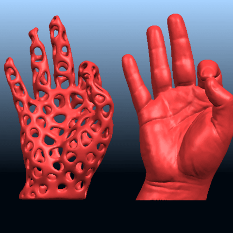 B01.png Download free STL file Voronoi Hand • Object to 3D print, GeorgesNikkei