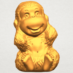 Free 3D print files Monkey A02, GeorgesNikkei