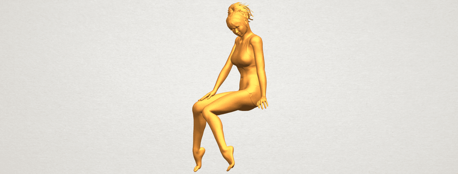 A03.png Download free STL file Naked Girl E03 • 3D printable template, GeorgesNikkei