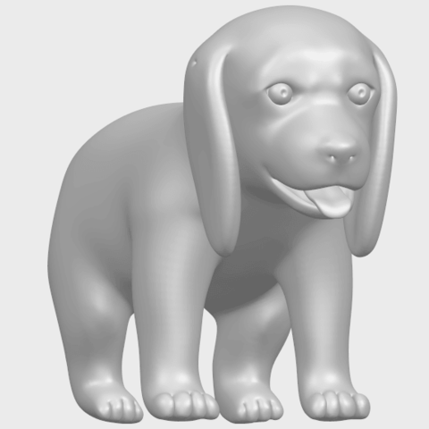 15_TDA0533_Puppy_01A03.png Download free STL file Puppy 01 • 3D printer template, GeorgesNikkei