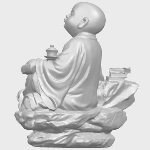 17_TDA0558_Little_Monk_Drink_TeaA05.png Télécharger fichier STL gratuit Boire du thé Little Monk Drink Tea • Design à imprimer en 3D, GeorgesNikkei