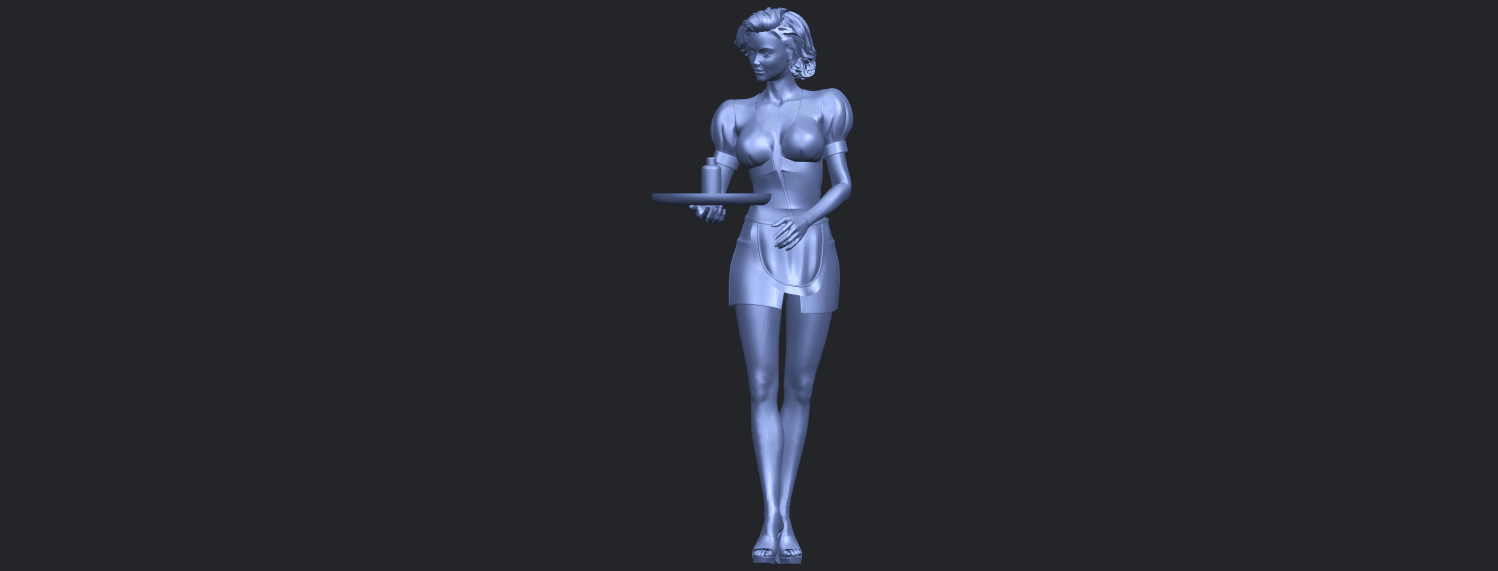 07_TDA0475_Beautiful_Girl_09_WaitressB02.png Download free STL file Beautiful Girl 09 Waitress • 3D printable object, GeorgesNikkei