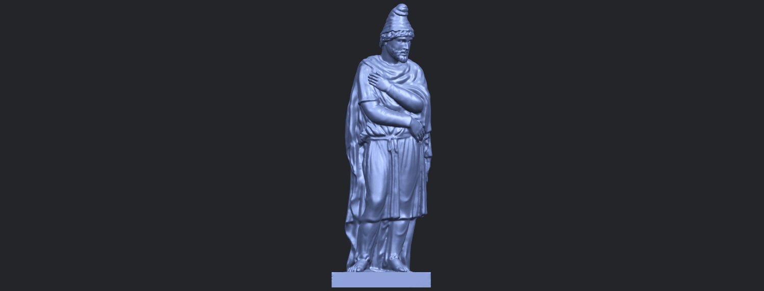 17_TDA0266_Tiridates_I_of_ArmeniaB01.png Download free STL file Tiridates I of Armenia • 3D print model, GeorgesNikkei