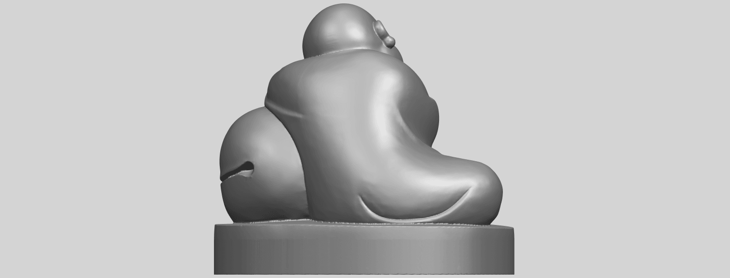 03_TDA0346_Little_MonkA07.png Download free STL file Little Monk 02 • Design to 3D print, GeorgesNikkei