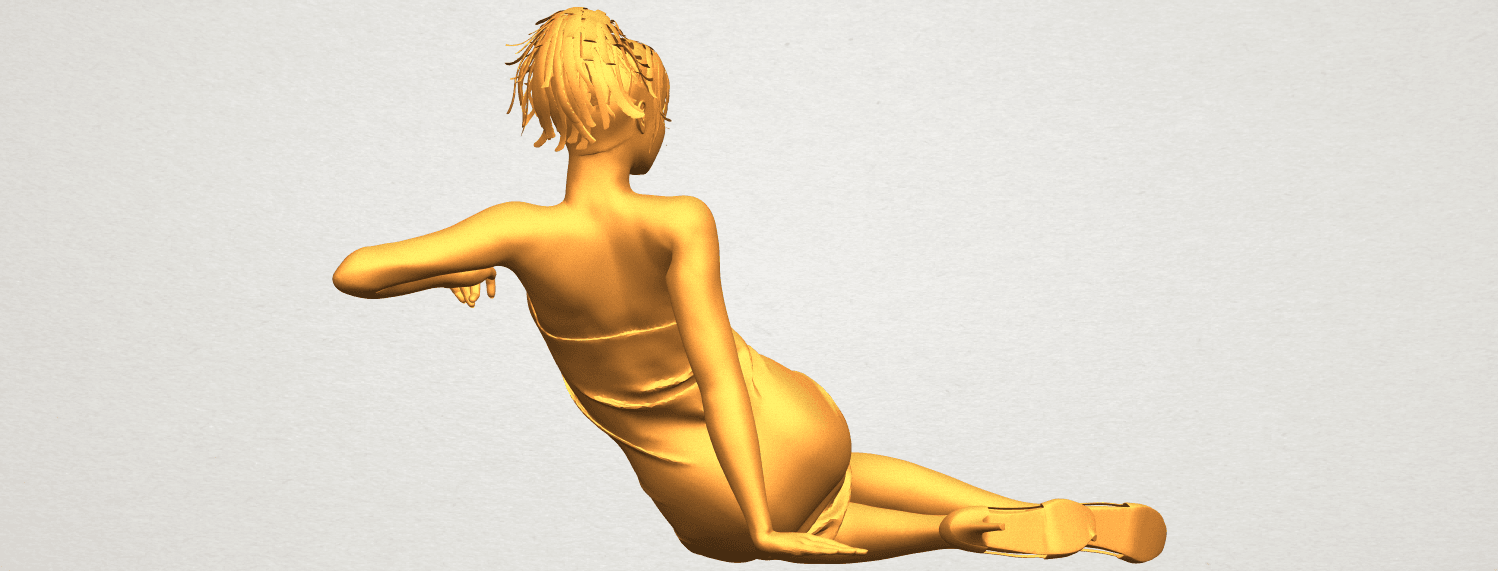 A07.png Download free STL file Naked Girl F05 • 3D printer object, GeorgesNikkei