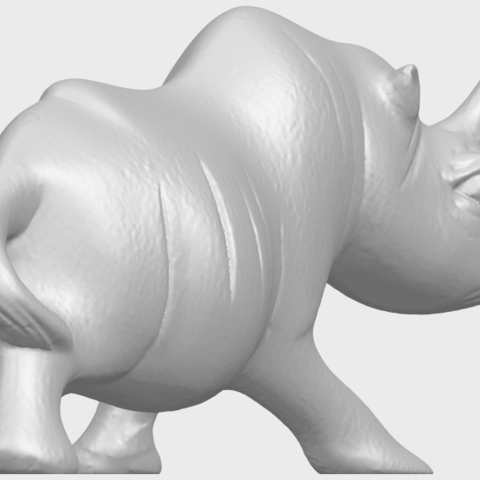 TDA0310_Rhinoceros_iiA05.png Download free STL file Rhinoceros 02 • 3D printing model, GeorgesNikkei