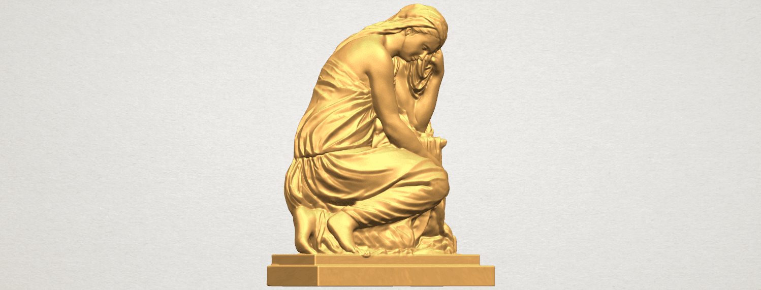 TDA0548 Sculpture of a girl 02 A05.png Download free STL file Sculpture of a girl 02 • 3D printable template, GeorgesNikkei