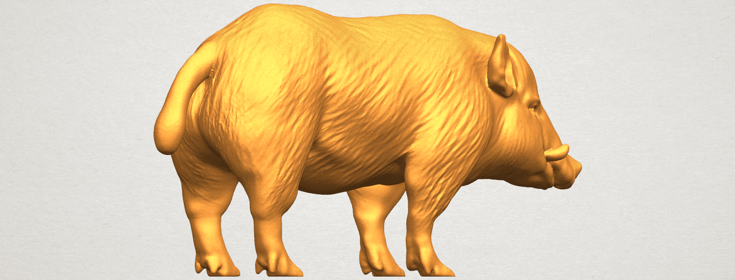 TDA0320 Pig (ii) A04.png Download free STL file Pig 02 • 3D printable object, GeorgesNikkei