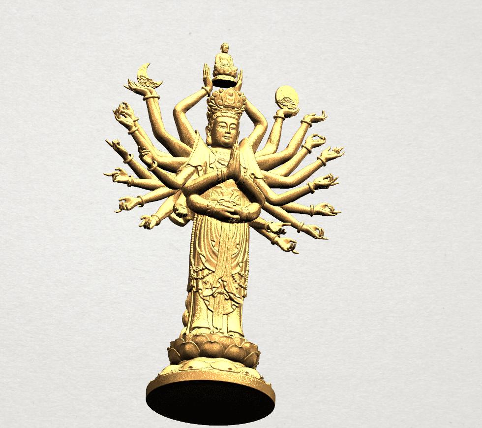 Avalokitesvara Bodhisattva (multi hand) 80mm -B10.png Download free STL file Avalokitesvara Bodhisattva (multi hand) (i) • 3D print object, GeorgesNikkei