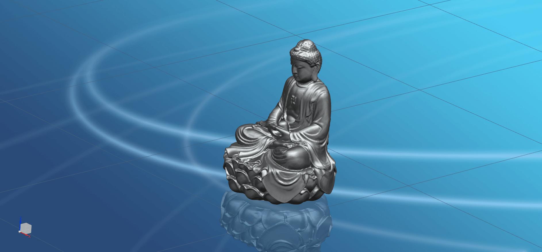 Gautama Buddha -03.png Télécharger fichier STL gratuit Gautama Bouddha 01 • Plan pour impression 3D, GeorgesNikkei