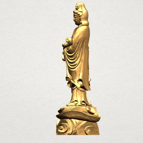 Avalokitesvara Buddha - Standing (iv) A03.png Download free STL file Avalokitesvara Buddha - Standing 04 • 3D print template, GeorgesNikkei