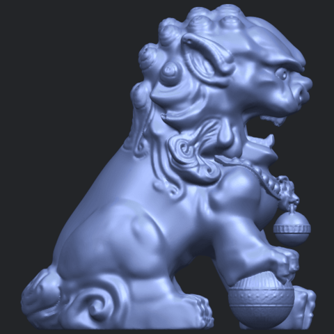 04_TDA0500_Chinese_LionB09.png Download free STL file Chinese Lion • 3D printing object, GeorgesNikkei