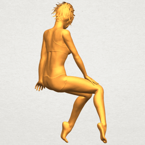A08.png Download free STL file Naked Girl E03 • 3D printable template, GeorgesNikkei