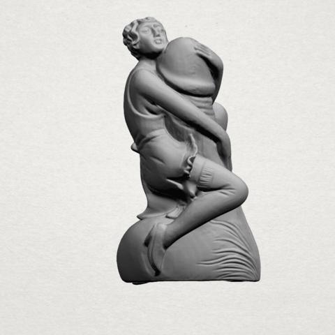Alice hugging Dick - A01.png Download free STL file Alice hugging Dick • 3D printer design, GeorgesNikkei