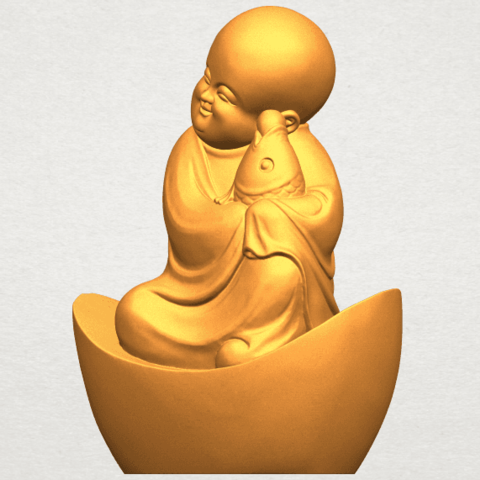 A02.png Download free STL file Little Monk 04 • 3D printer template, GeorgesNikkei