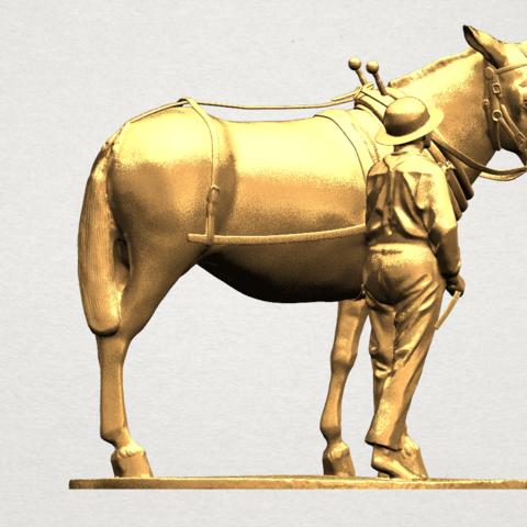 Horse with Man (i) - A07.png Télécharger fichier STL gratuit Cheval avec Man 01 • Objet à imprimer en 3D, GeorgesNikkei
