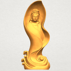 Free 3d printer model Avalokitesvara Bodhisattva (with Lotus Leave) 03, GeorgesNikkei