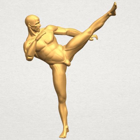 TDA0547 Man Kicking A01 ex500.png Télécharger fichier STL gratuit Man Kicking • Objet pour impression 3D, GeorgesNikkei