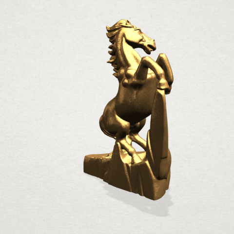 Horse - B05.png Download free STL file Horse 01 • 3D printing model, GeorgesNikkei