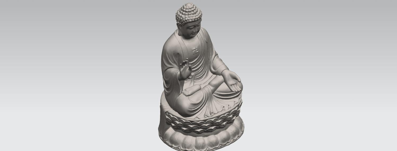 TDA0459 Gautama Buddha (iii) A08.png Download free STL file Gautama Buddha 03 • 3D printer template, GeorgesNikkei