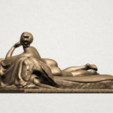 Lying on Bed (i) A03.png Download free STL file Naked Girl - Lying on Bed 01 • 3D printable object, GeorgesNikkei