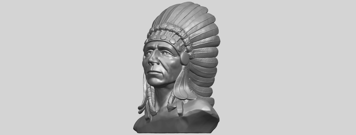 09_TDA0489_Red_Indian_03_BustA02.png Download free STL file Red Indian 03 • 3D printer model, GeorgesNikkei