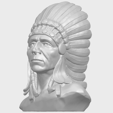 09_TDA0489_Red_Indian_03_BustA02.png Télécharger fichier STL gratuit Rouge Indien 03 • Objet pour impression 3D, GeorgesNikkei