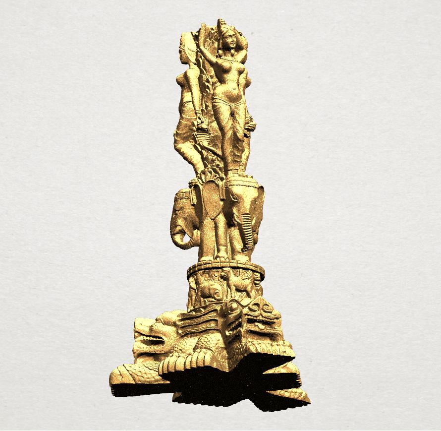 Thai Elephant Tower 80mm - A04.png Télécharger fichier STL gratuit Tour de l'éléphant thaïlandais • Modèle pour impression 3D, GeorgesNikkei