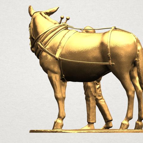 Horse with Man (i) - A04.png Télécharger fichier STL gratuit Cheval avec Man 01 • Objet à imprimer en 3D, GeorgesNikkei