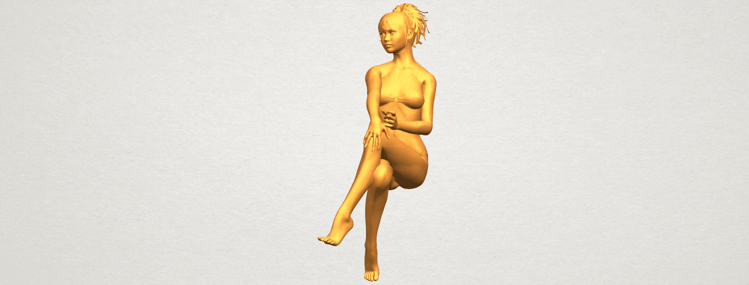 A05.png Download free STL file Naked Girl H02 • 3D print object, GeorgesNikkei