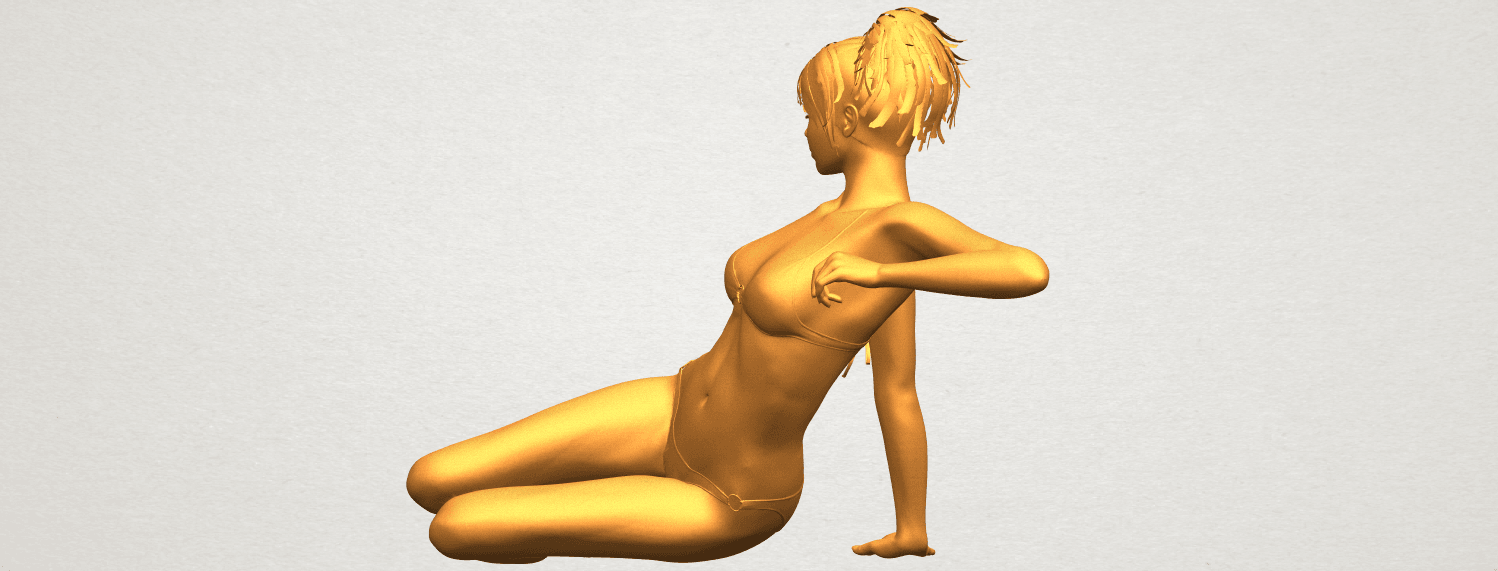 A04.png Download free STL file Naked Girl F02 • 3D printable template, GeorgesNikkei