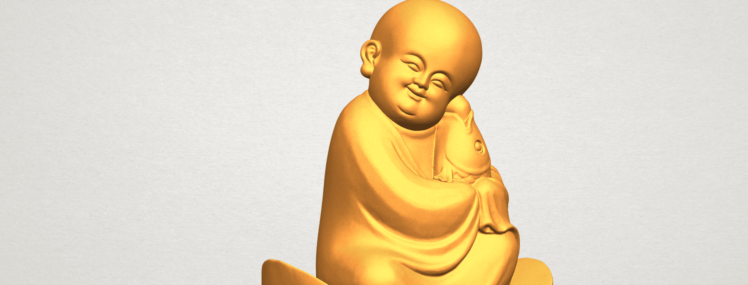 A11.png Download free STL file Little Monk 04 • 3D printer template, GeorgesNikkei