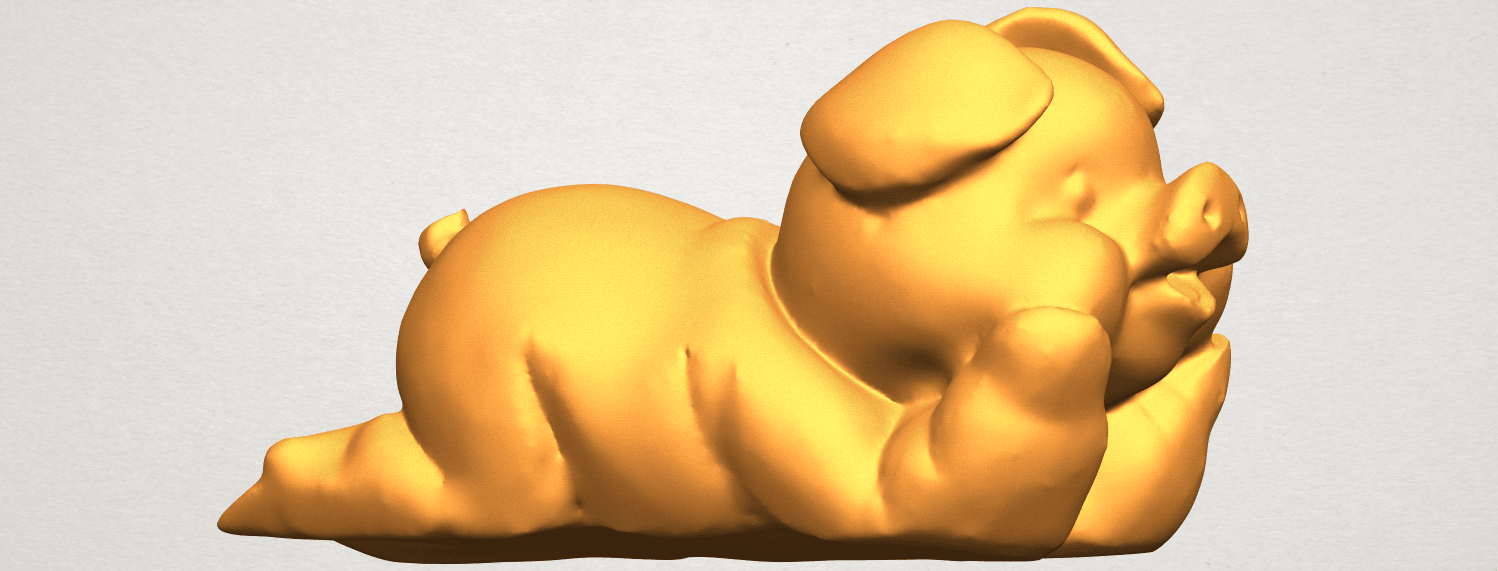 A07.png Download free STL file Pig 01 • 3D printing object, GeorgesNikkei