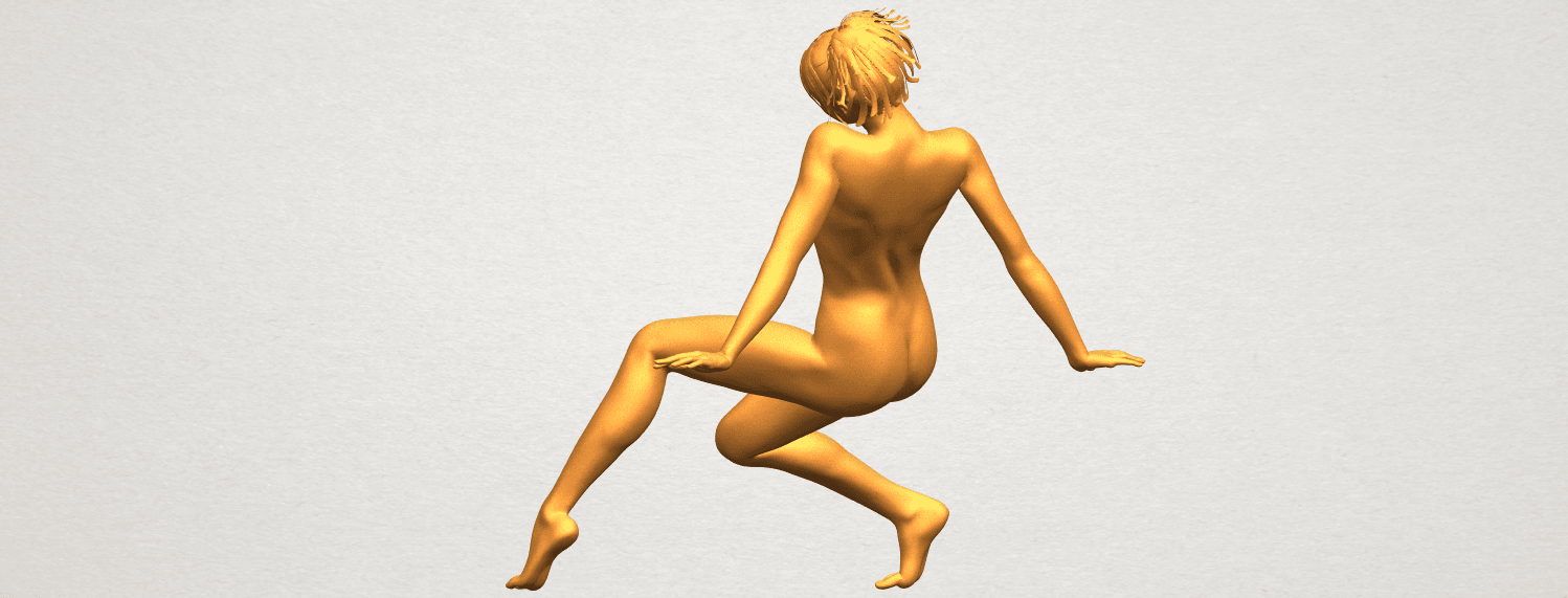 A05.png Download free STL file Naked Girl G01 • 3D printable template, GeorgesNikkei