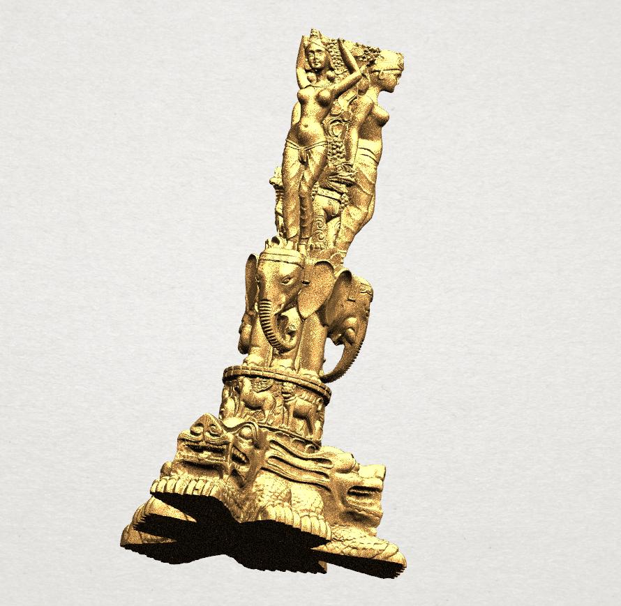 Thai Elephant Tower 80mm - A05.png Télécharger fichier STL gratuit Tour de l'éléphant thaïlandais • Modèle pour impression 3D, GeorgesNikkei