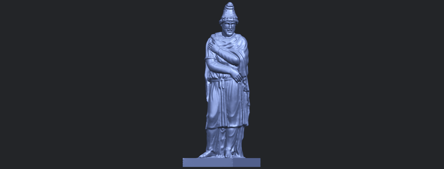 17_TDA0266_Tiridates_I_of_ArmeniaB02.png Download free STL file Tiridates I of Armenia • 3D print model, GeorgesNikkei