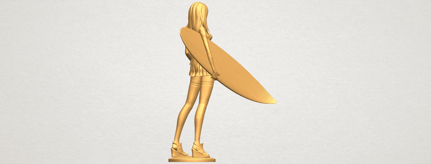 TDA0590 Girl surfing board 02 A07.png Download free STL file Girl surfing board 02 • 3D printable object, GeorgesNikkei