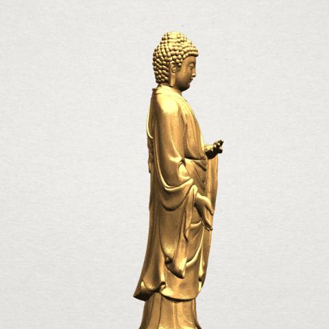 Gautama Buddha (stand)-80mm-B04.png Télécharger fichier STL gratuit Gautama Bouddha - Debout 01 • Plan pour impression 3D, GeorgesNikkei