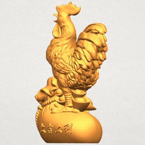 TDA0321 Cock A02.png Télécharger fichier STL gratuit Coq 01 • Design pour impression 3D, GeorgesNikkei