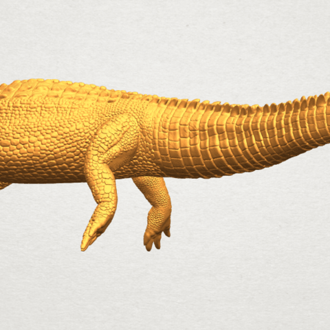 A07.png Download free STL file Alligator 01 • 3D printer object, GeorgesNikkei