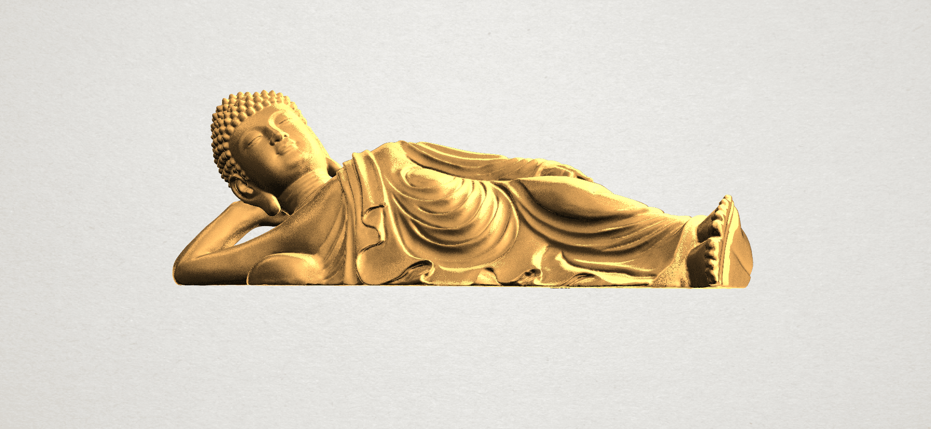 Sleeping Buddha (ii) A02.png Download free STL file Sleeping Buddha 02 • Design to 3D print, GeorgesNikkei