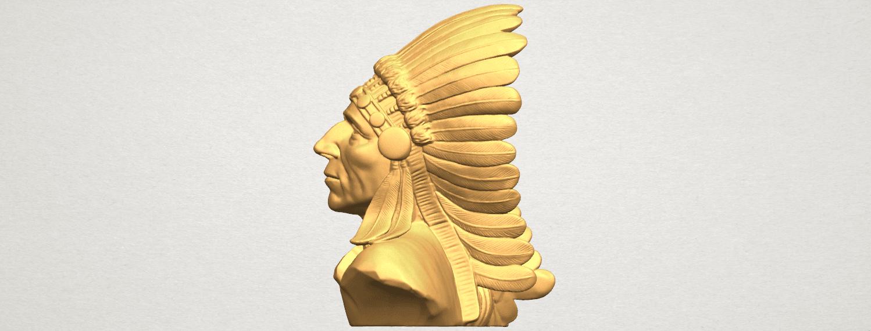 TDA0489 Red Indian 03 - Bust A03.png Télécharger fichier STL gratuit Rouge Indien 03 • Objet pour impression 3D, GeorgesNikkei