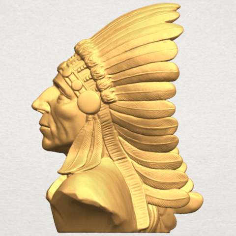 TDA0489 Red Indian 03 - Bust A03.png Download free STL file Red Indian 03 • 3D printer model, GeorgesNikkei