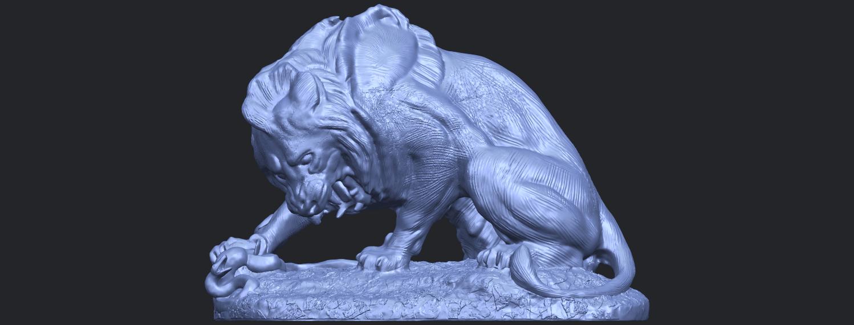 16_Lion_(iii)_with_snake_60mm-B01.png Télécharger fichier STL gratuit Lion 03 - avec serpent • Modèle imprimable en 3D, GeorgesNikkei