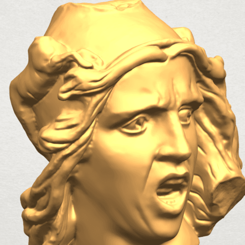 A11.png Download free STL file Bust of Shock • 3D print object, GeorgesNikkei