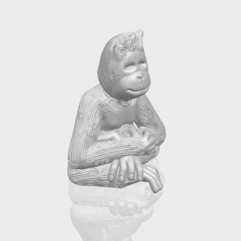 09_TDA0606_ChimpanzeeA00-1.png Télécharger fichier STL gratuit Chimpanzé • Design imprimable en 3D, GeorgesNikkei