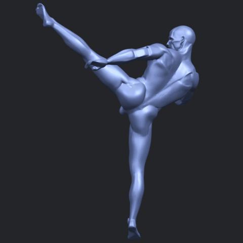 06_TDA0547_Man_KickingB06.png Télécharger fichier STL gratuit Man Kicking • Objet pour impression 3D, GeorgesNikkei